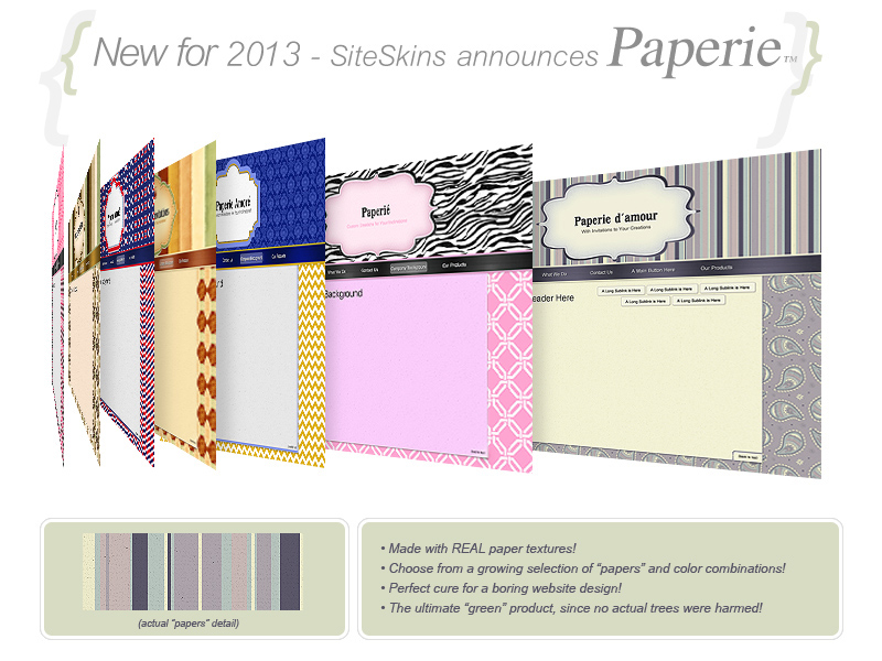 Colorful new skins inspired by cut paper